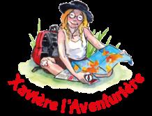 logo Xavière l'aventurière Marie Bernard voyage livre enfant blog