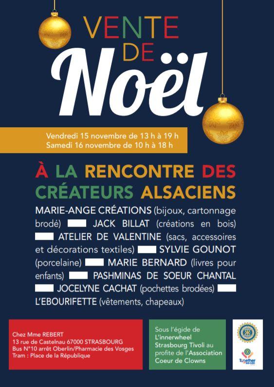 ventes privées pour Noël à Strasbourg avec Xavière l'Aventurière