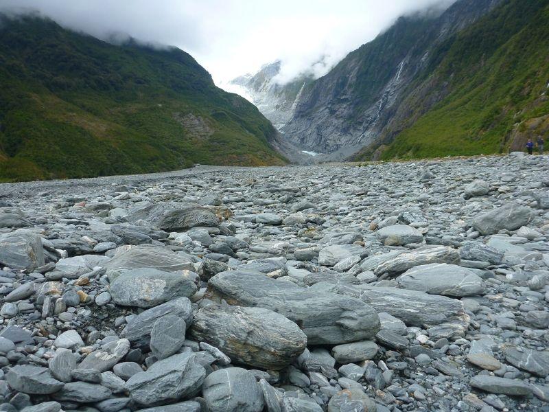 Franz Josef paysage rocailleux Xavière l'Aventurière