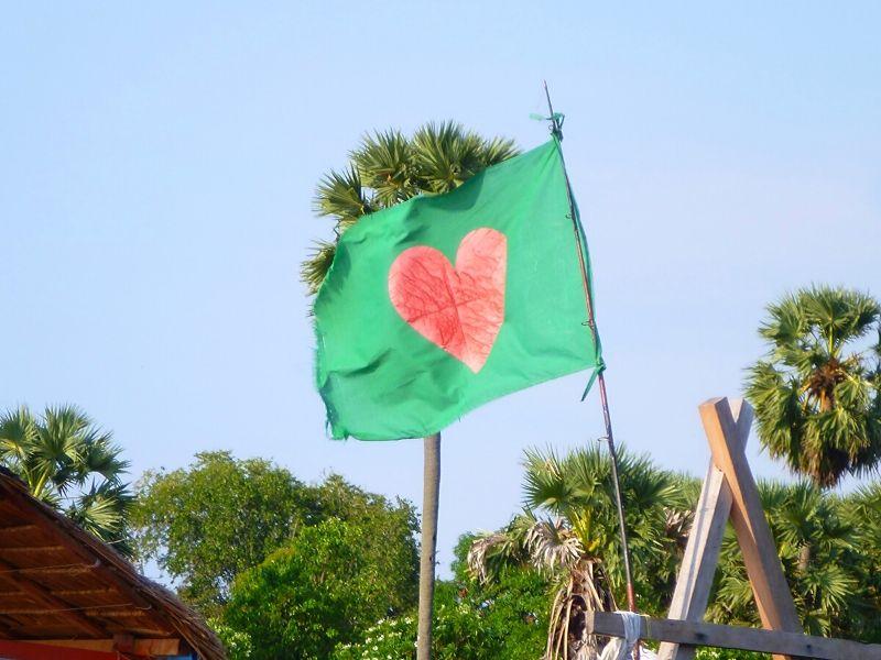 du temps pour soi Xavière l'Aventurière drapeau coeur nouveau monde