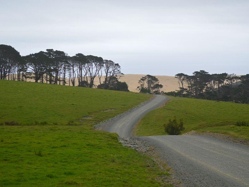 Xavière l'Aventurière Te Paki Nouvelle Zélande route