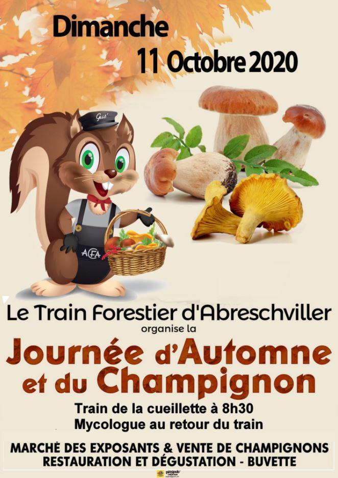 journée fête de l'automne et du champignon 2020 Abreschviller Xavière l'Aventurière