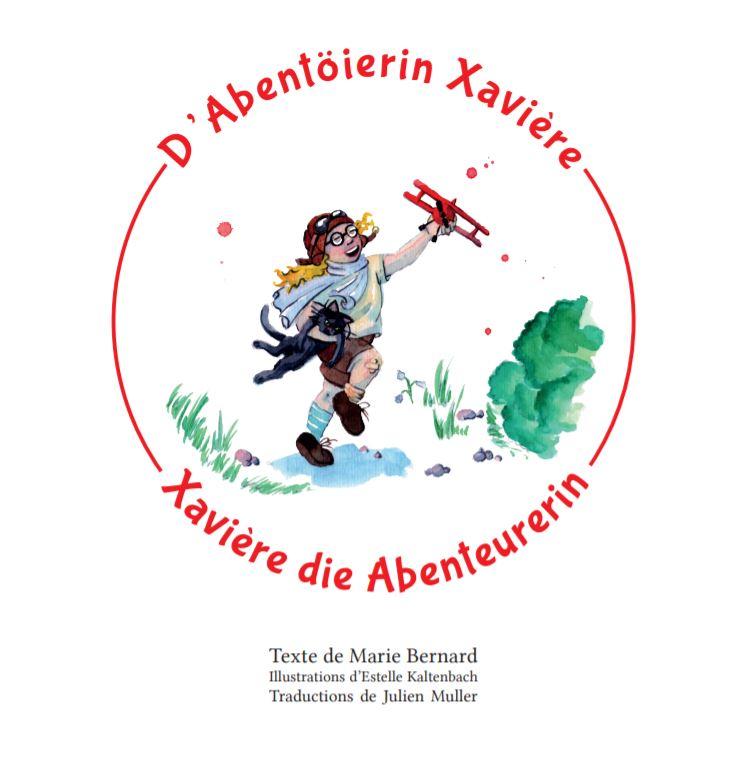 Couverture tome 4 D'Abentöierin Xavière/Xavière die Abenteurerin traduction alsacien allemand