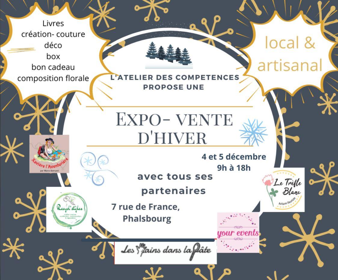 Expo-vente-hiver atelier des compétences Xavière l'Aventurière