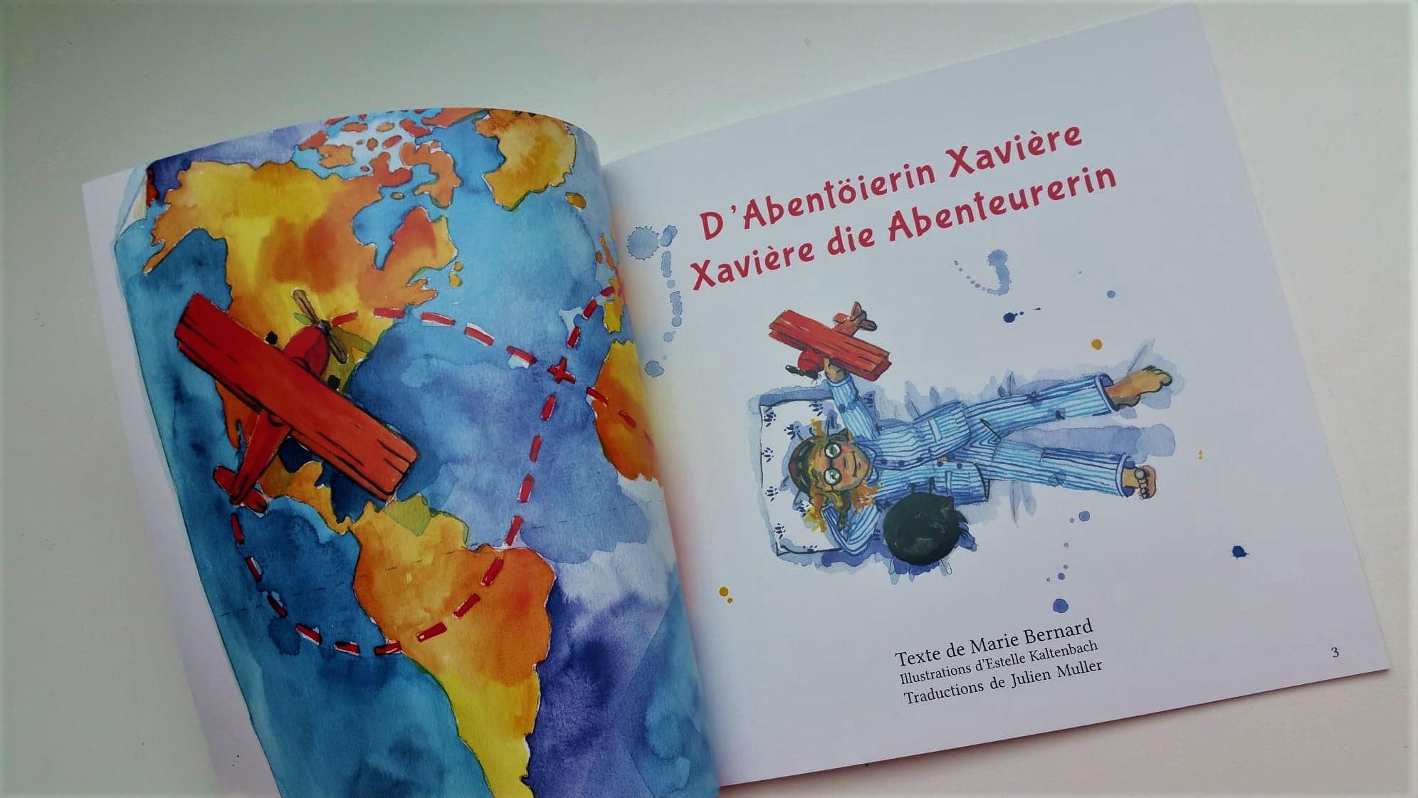 Xavière l'Aventurière Alsacien Allemand livre pour enfants