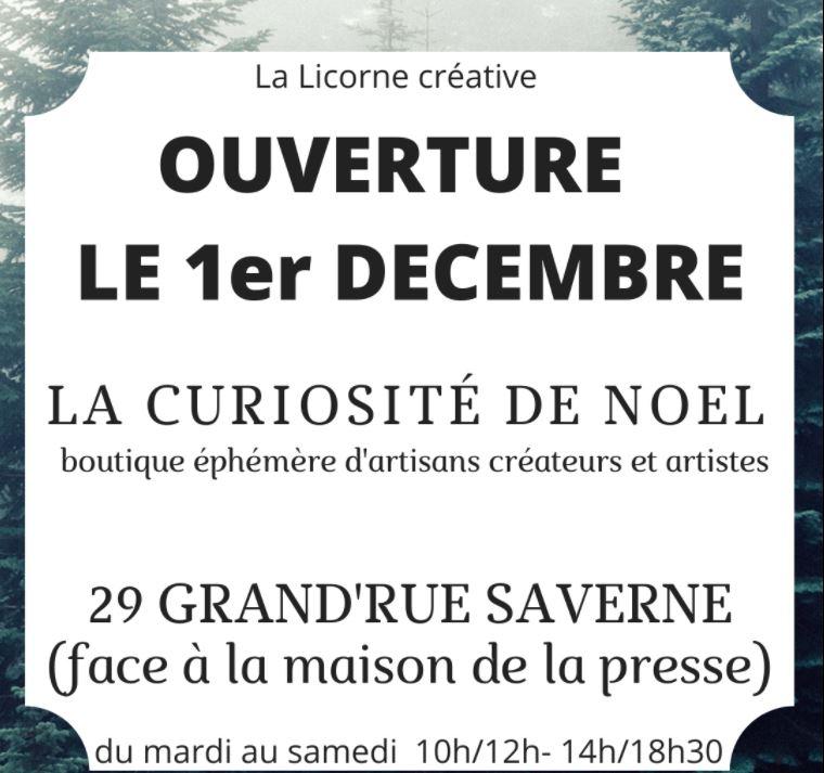 boutique la curiosité de Noël Saverne Xavière l'Aventurière