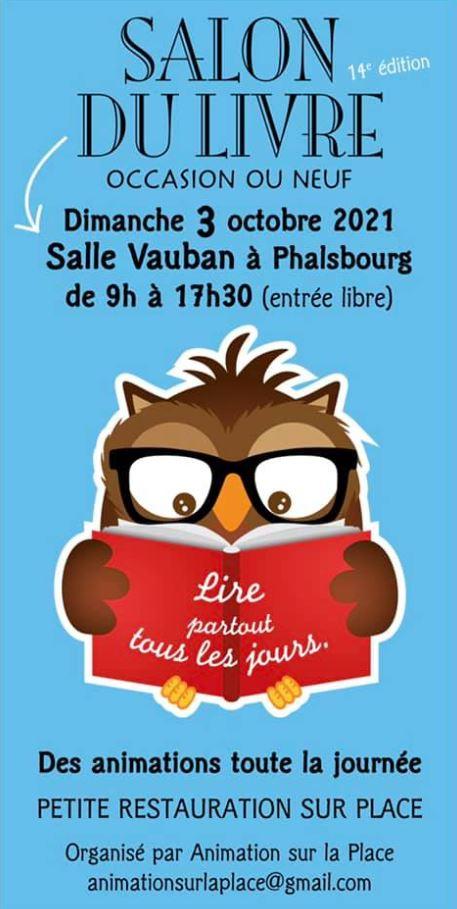 Affiche salon du livre Phalsbourg 2021 Xavière l'Aventurière