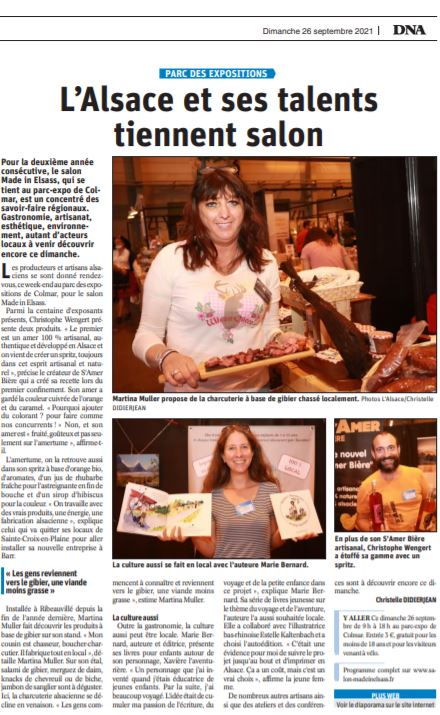 Article alsace salon made in elsass Colmar 2021 Xavière l'Aventurière