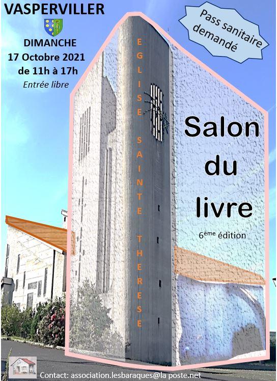 2021 Salon du livre Vasperviller Affiche Xavière l'Aventurière